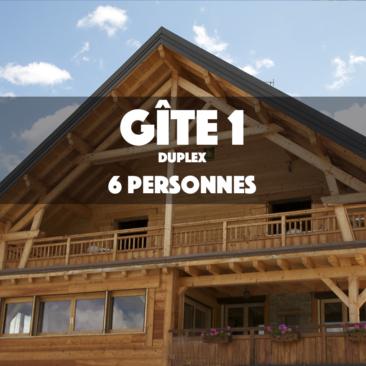 Gîte 1 – LE MUSTANG – DUPLEX 6 Personnes