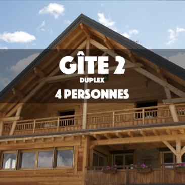 Gîte 2 – LE MUSTANG – DUPLEX 4 Personnes