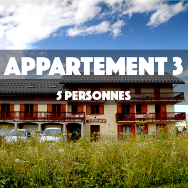 APPARTEMENT 3 – OMIKELY – 5 personnes